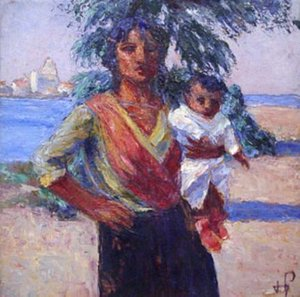 Carmague Woman with Child
